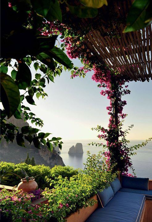 Magnificent view from the Island of Capri, Italy.