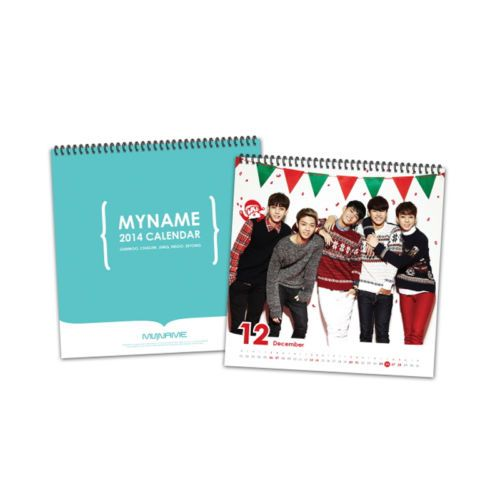 [2014 K-POP Season Greeting] My Name Idol Collection Memorable (Wall Calendar)