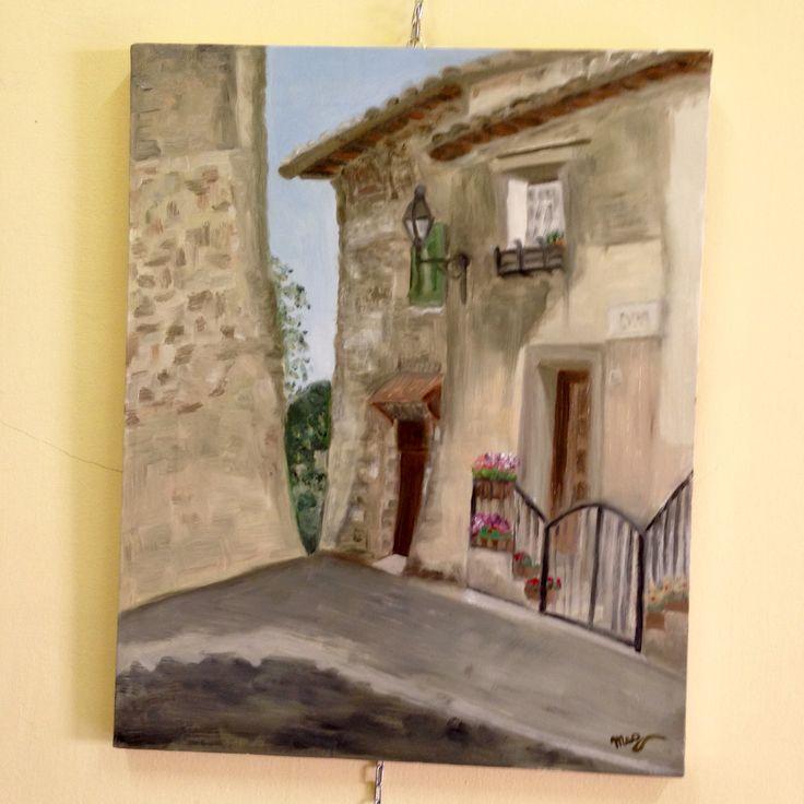 #estemporanea #pitturaaolio #sanpolodeicavalieri #Megcreative