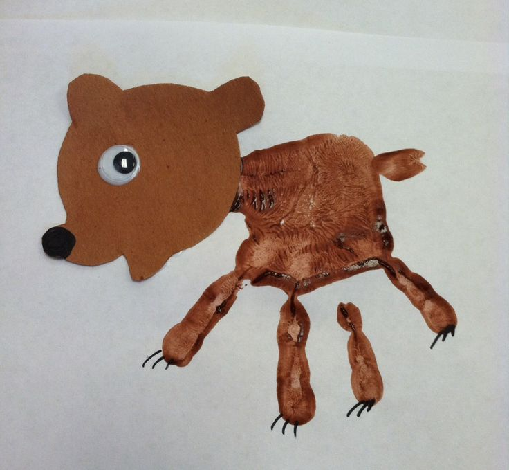 Brown Bear Brown Bear Handprint Craft