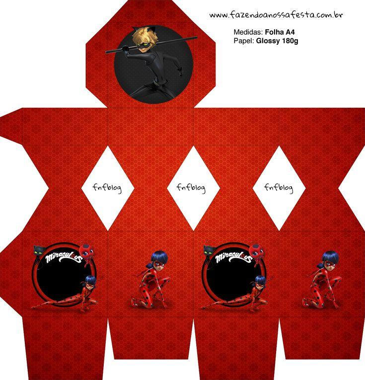 Meia Caixa Bala Miraculous Ladybug