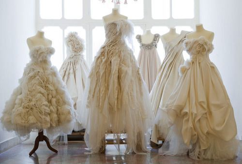 Display the Mom and Grandma's wedding dresses on dress forms at the reception...sweet way to show them off while still getting to wear your own!