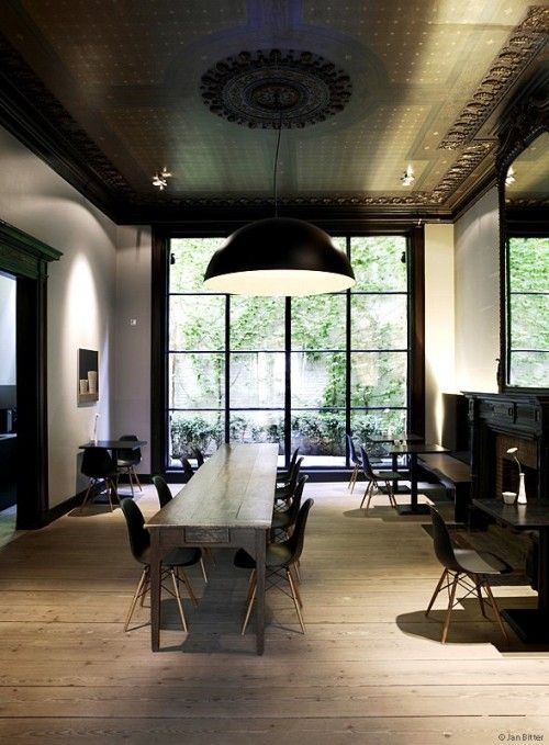 .Dining Room, Offices Design, Design Interiors, Architecture Interiors, Hotels Interiors, Interiors Design, Ceilings Design, Windows Panes, Side Chairs