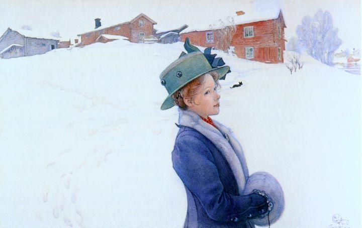 Painting by Swedish artist Carl Larsson.