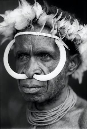 Dani Tribes man, Papua..