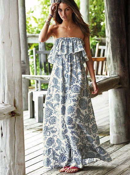 Ruffled Maxi Dress: Long Dresses, Outfits, Summer Dresses, Fashion, Beaches Dresses, Style, Victoria Secret, Summer Maxi Dresses, Summer Clothing