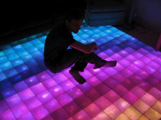 DIY LED Dance Floor.  Includes Code  That's Totally Disco | Coding4Fun Articles | Channel 9