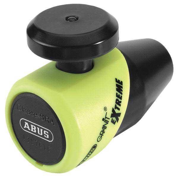ABUS κλειδαριά δισκοφρένου Granit Extreme X-plus 69 Yellow από ειδικά κατεργασμένο ατσάλινο σώμα με πείρο 16 mm. Συμπαγής κατασκευή με compact διαστάσεις που την καθιστούν εύκολη στην χρήση αλλά και στην μεταφορά. Χρησιμοποιεί κύλινδρο ασφαλείας X-plus υψηλής προστασίας ενάντια σε παραβιάσεις. Συνοδεύεται από κάρτα ABUS με τον κωδικό του κλειδιού για τυχόν αντικατάσταση του. Maximum Protection Level 20.