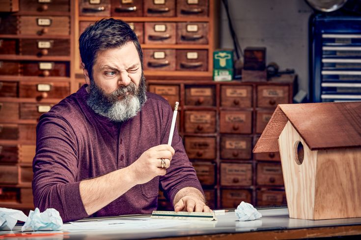 Life Lessons From Nick Offerman, the World's Funniest Woodworker | Popular Mechanics | Nick Offerman will make you laugh, he'll make you cry (from laughing), he'll make you a birdhouse. Matthew B. Crawford, author of Shop Class as Soulcraft, sits down with the comic star to discuss the value of working with your hands.