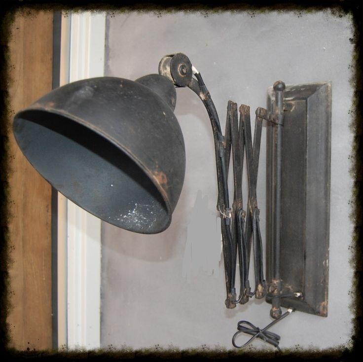 muur wand lamp uittrek harmonica 19,5 x 36 x 40