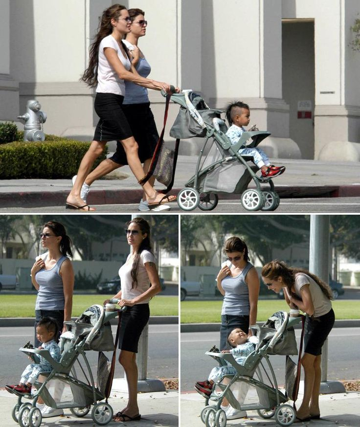 Angelina Jolie, Holly Goline and Maddox  in 2003