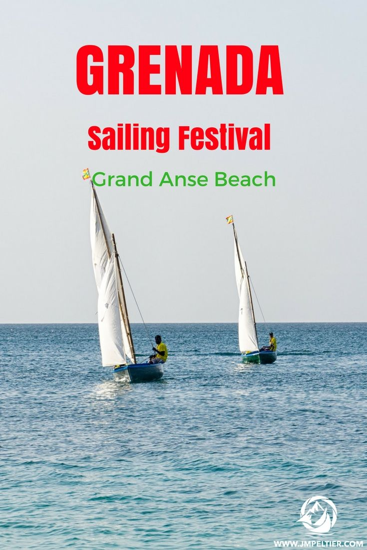 The workboat races at Grand Anse beach during Grenada Sailing Week is way more fun to watch than the pro teams in their fancy boats!