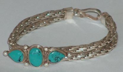 Zilveren armband uit Nepal