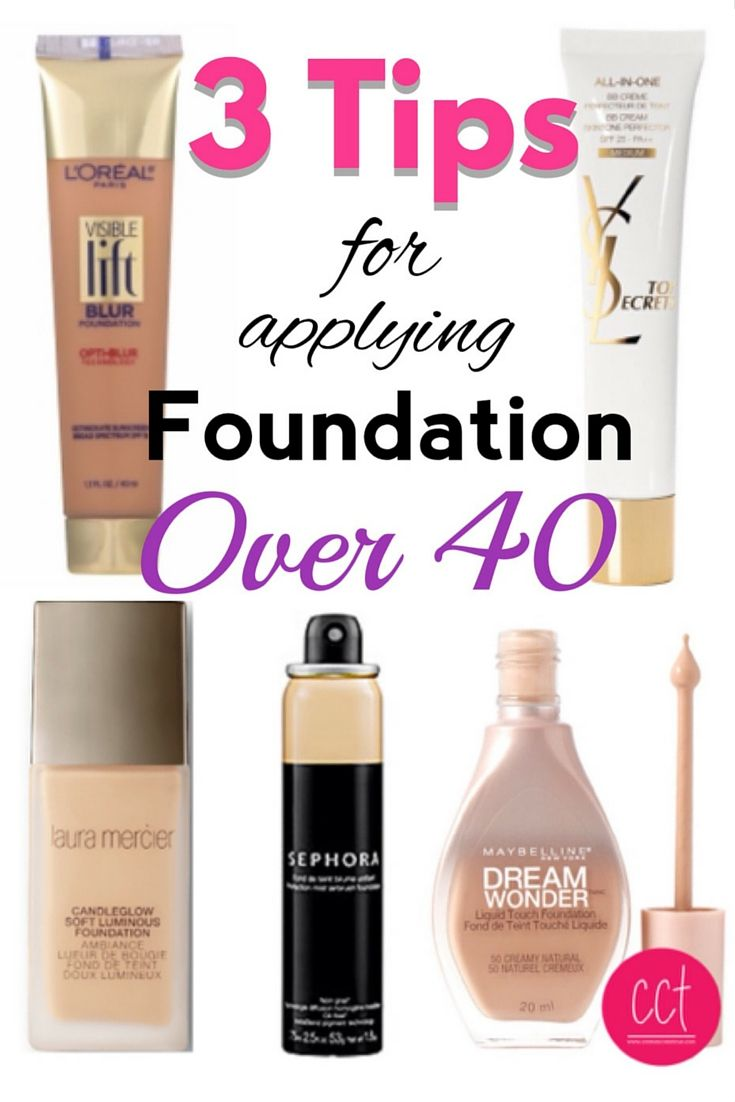 Foundation can make you look older if you don't know these three tips for makeup over 40