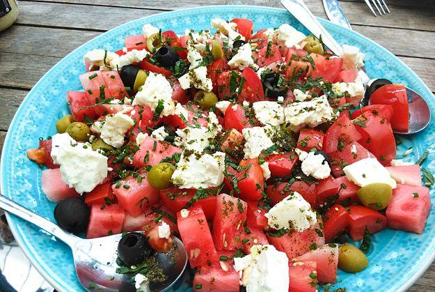 Watermeloen - Tomatensalade met Za'atar