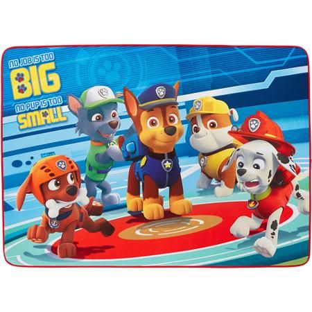"""Nick Jr. Paw Patrol 'Pups In Action' Area Rug, 3'4"""" x 4'8"""", Blue/Red"""