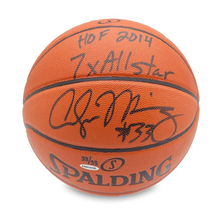 ALONZO MOURNING Autographed & Inscribed Replica Basketball UDA LE 33 - Game Day Legends