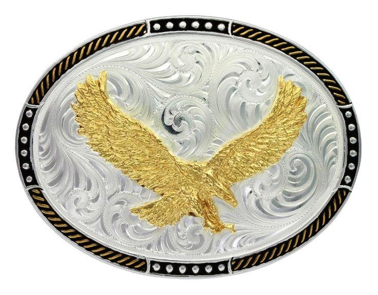 Soaring Eagle Oval Western Belt Buckle