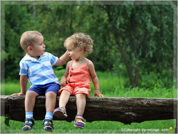 The world is as many times new as there are children in our lives. ~Robert Brault, Download this cute kids wallpaper :