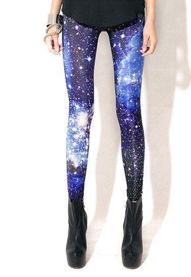 Wholesale Women Sexy Universe Galaxy Blue Printed Leggings Pants Elasticity Fashion Space Tie Dye Milk Silk-in Socks & Hosiery from Apparel ...