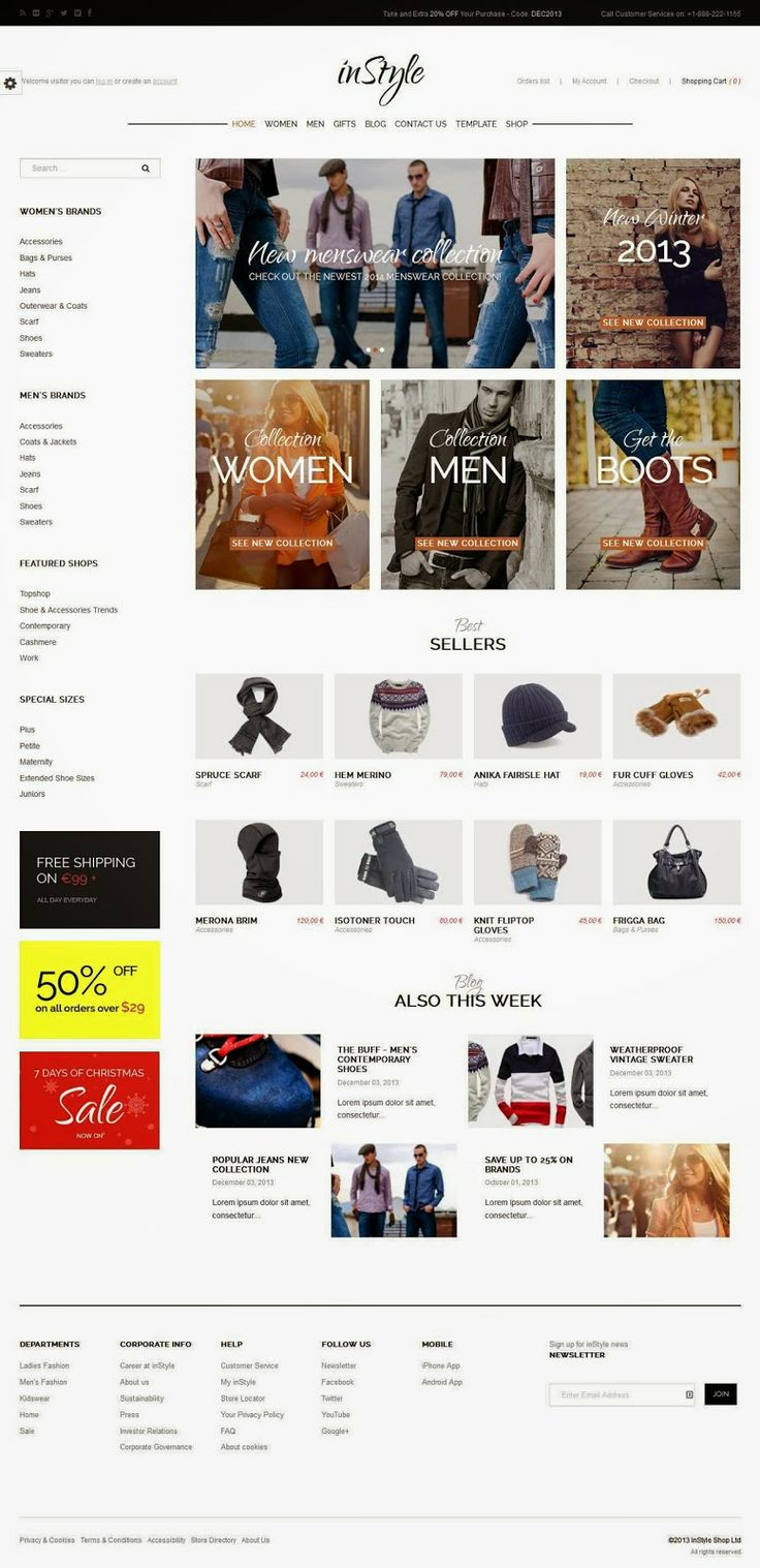 A premium eCommerce Joomla template that will help you to create recognizable online store. Provide your exceptional webstore with the stunning, up-to-date presence it deserves with our inStyle eCommerce Joomla template. Its clean, stylish design makes it perfect as a sales platform for whatever products you wish.