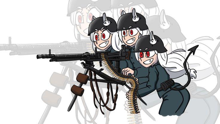 Pin on anime girl with guns