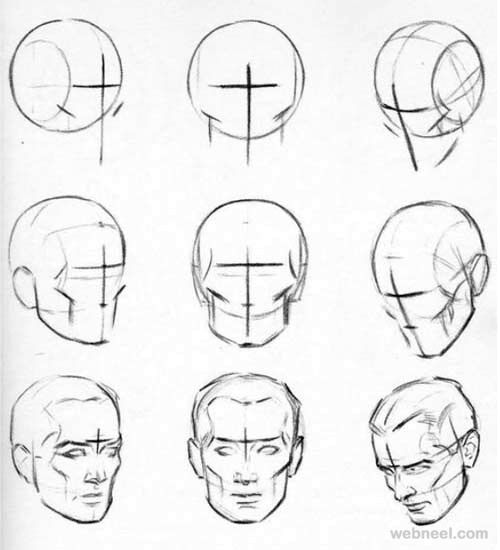 32 best how to draw a male and female face images on pinterest how to draw a face 25 step by step drawings and video tutorials ccuart Choice Image
