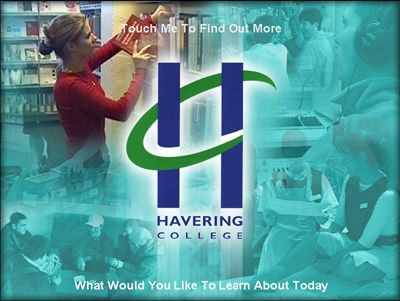 Havering College Touch Screen Presentation - Touchscreen Kiosk - Essex