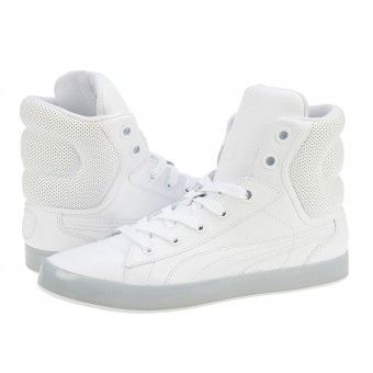Ghete sport barbati Puma 2nd Round Hi white