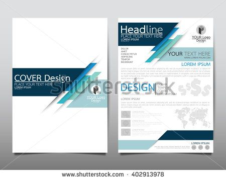 Blue technology annual report brochure flyer design template vector, Leaflet cover presentation abstract flat background, layout in A4 size