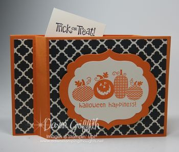 Wiper card  fun moving cards Watch the video on how to make this card . Halloween Happiness stamp