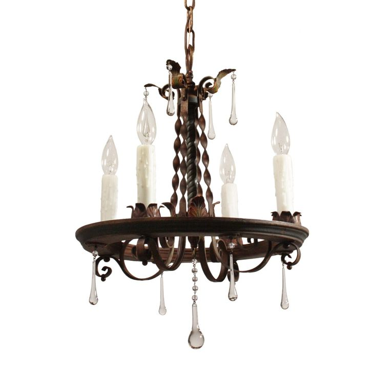 25 best tudor accessories images on pinterest chandeliers tudor tudor wrought iron chandelier with teardrop prisms antique lighting aloadofball Choice Image