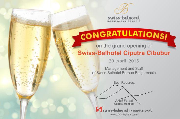 Congratulation Opening Cibubur