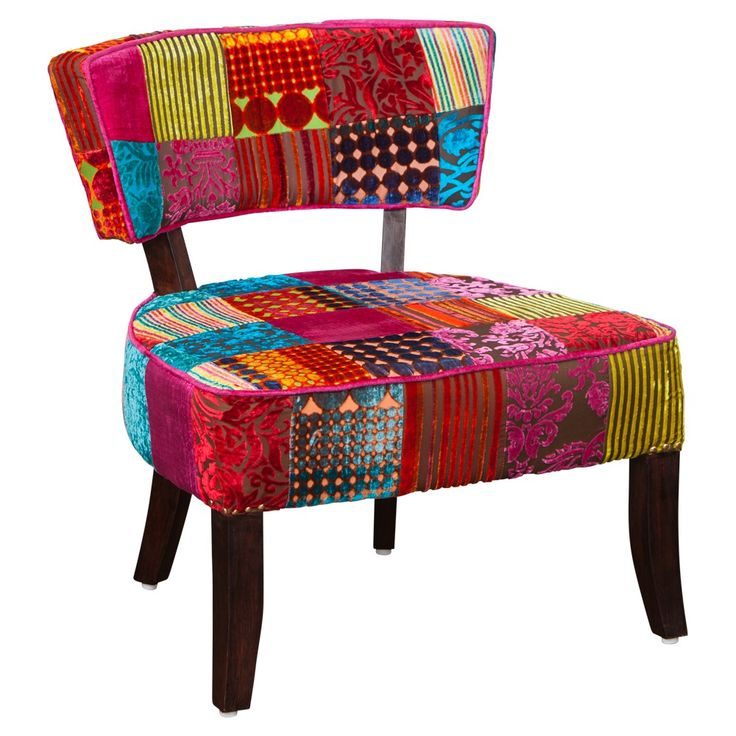 Marcel Occasional Chair Velvet Patch