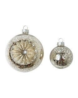 Mercury Glass Baubles | TOAST