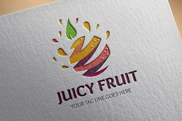 Juicy Fruit Logo by salmon.black on @creativemarket
