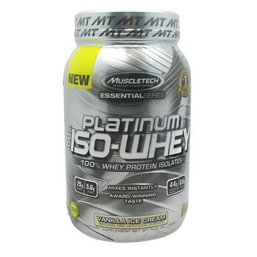 Essential Series 100% Platinum Iso-Whey, Vanilla Ice Cream 1.79 lb, Muscletech, Protein #bodybuilding #sport #sportsnutrition #gym #protein https://monsternbeast.com/shop/essential-series-100-platinum-iso-whey-vanilla-ice-cream-1-79-lb-muscletech-protein/