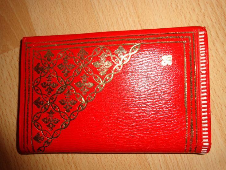 Vintage Portemonnaies - Mappe*Vintage*Börse*rot* - ein Designerstück von SweetSweetVintage bei DaWanda