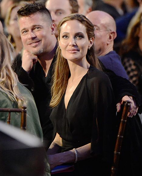 Angelina Jolie and Brad Pitt at the 2014 Independent Spirit Awards on Saturday, 1 March 2014.