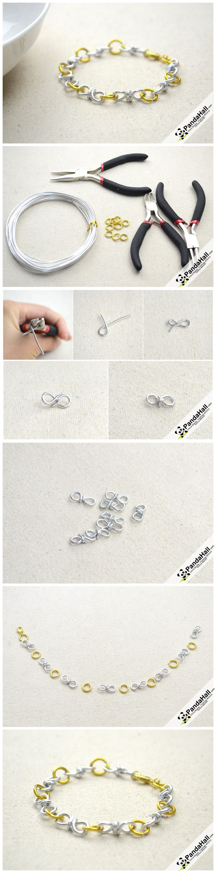 Cool Bracelet Making idea-how to make Stunning Wire Bracelet from pandahall.com