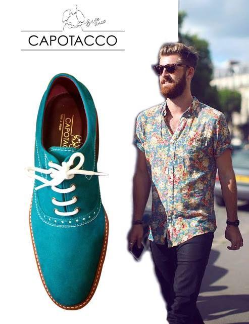 Homem de floral? Só não pode como deve! Combine esse estilo que está super na moda com os lindos sapatos da Capotacco!  #adoro #adoropresentes #capotacco #oxford #moda #modamasculina #floral #mensfashion
