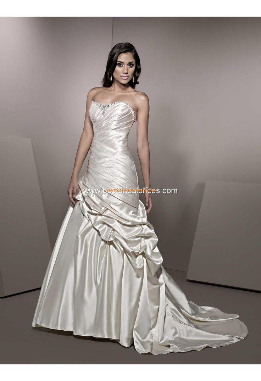 Robe de mariée originale satin drape col coeur