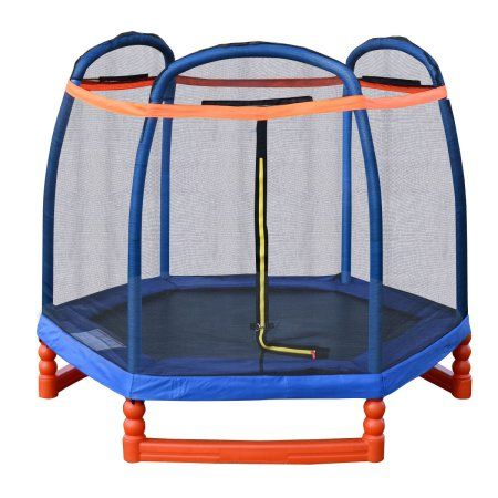 Costway 7FT Trampoline Combo w/ Safety Enclosure Net Indoor Outdoor Bouncer Jump Kids