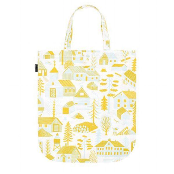 Kauniste's Mökkilä tote bag, yellow