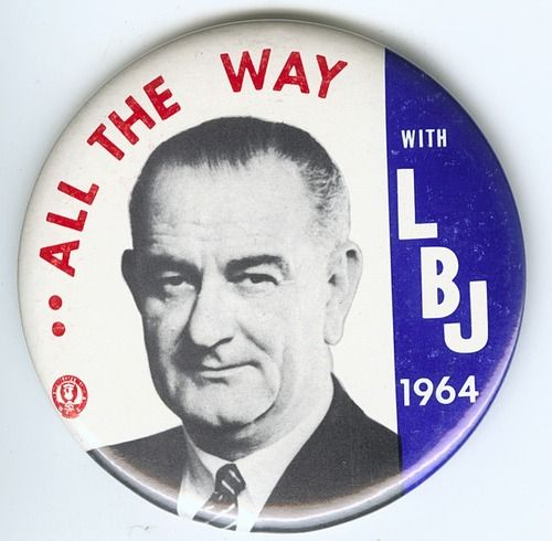 1964 election -Buttons like this could be seen around D.C. in 1964 as District residents voted in their first Presidential election.