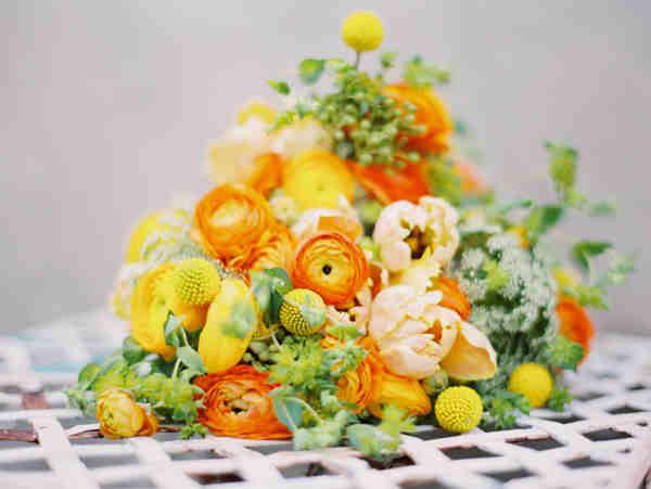 Orange Wedding arrangements