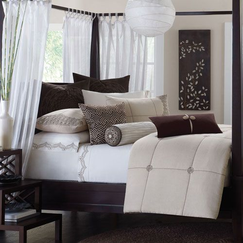 Mantra Ten-Piece King Comforter Set #bedding #bedroom