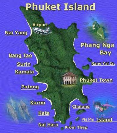 Phuket is a large island in the Indian Ocean south of Bangkok surrounded by 39 smaller islands. With all the surrounding waters along the island's shape ...