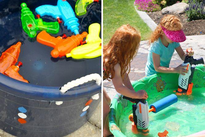 L'été rien de plus rafraîchissant qu'une bataille d'eau ! On sort les pistolets à eau et on s'arrose, mais voici d'autres idées de jeux avec des pistolets à eau, tout aussi éclaboussants et amusants !
