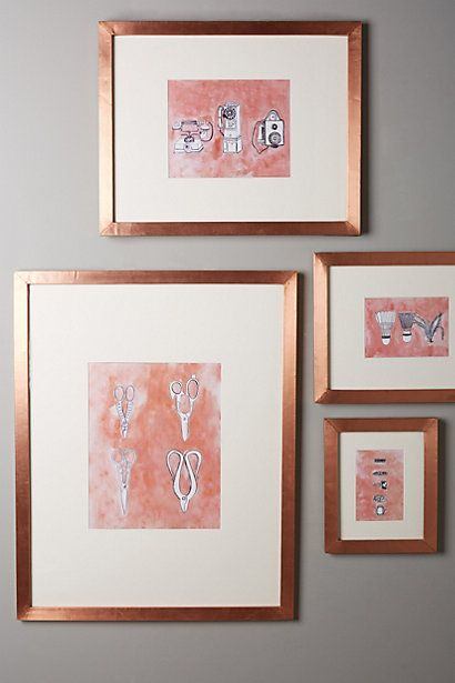 Minimalist Gallery Frame - anthropologie.com The copper frames!